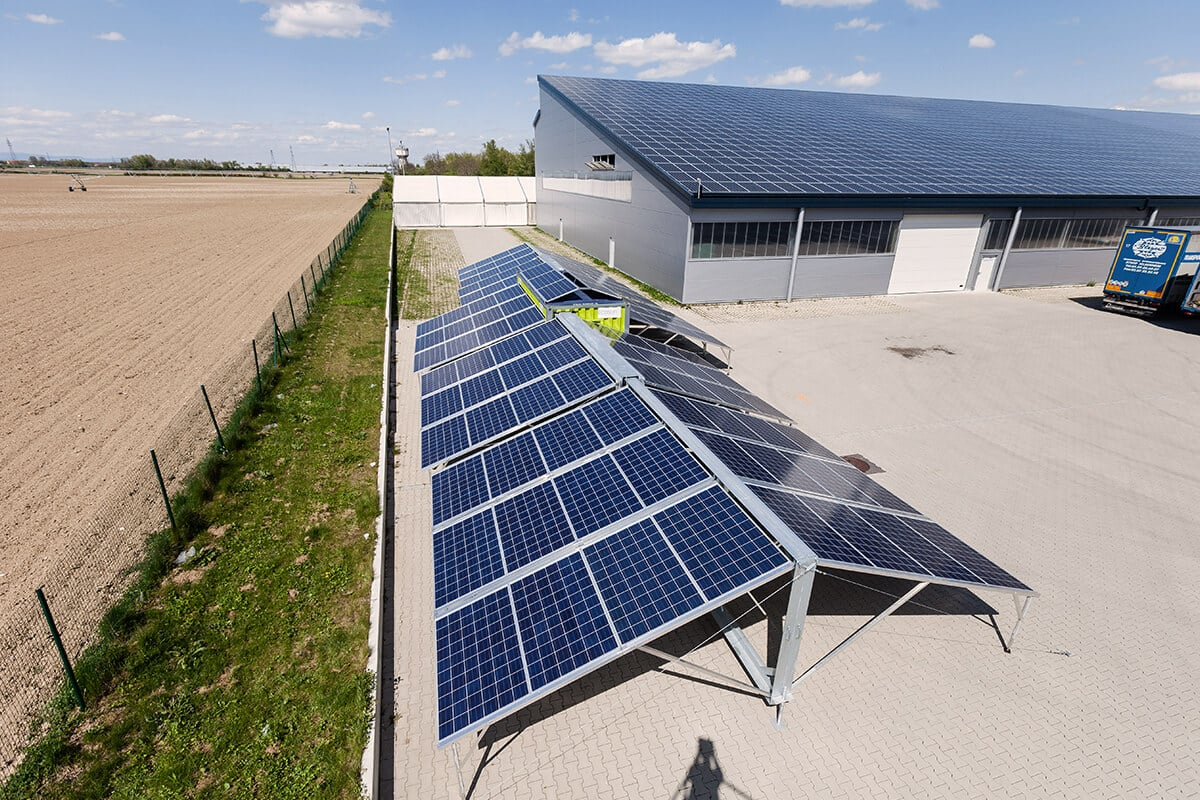contenedor solar y energía solar fotovoltaica